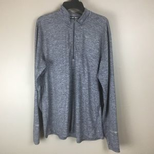 Nike Men's Full Zip Grey Long Sleeve Jacket (XL)